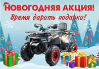 Новогодняя акция на детские квадроциклы